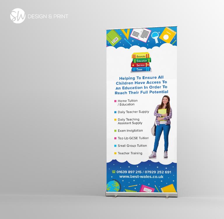 Bespoke Education Pull Up Banner Sw Design Print
