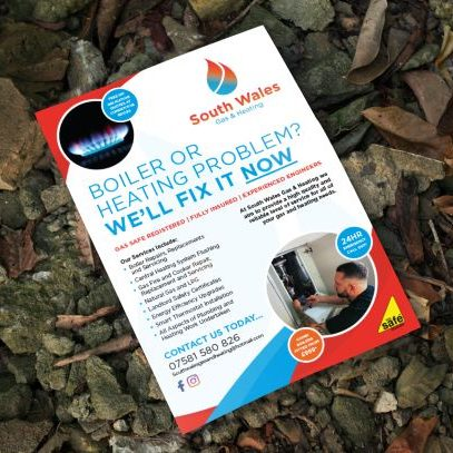 Leaflet design and printed for gas plumber